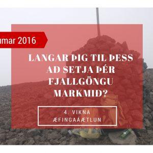 Fjögurra Vikna Fjallgönguáætlun.