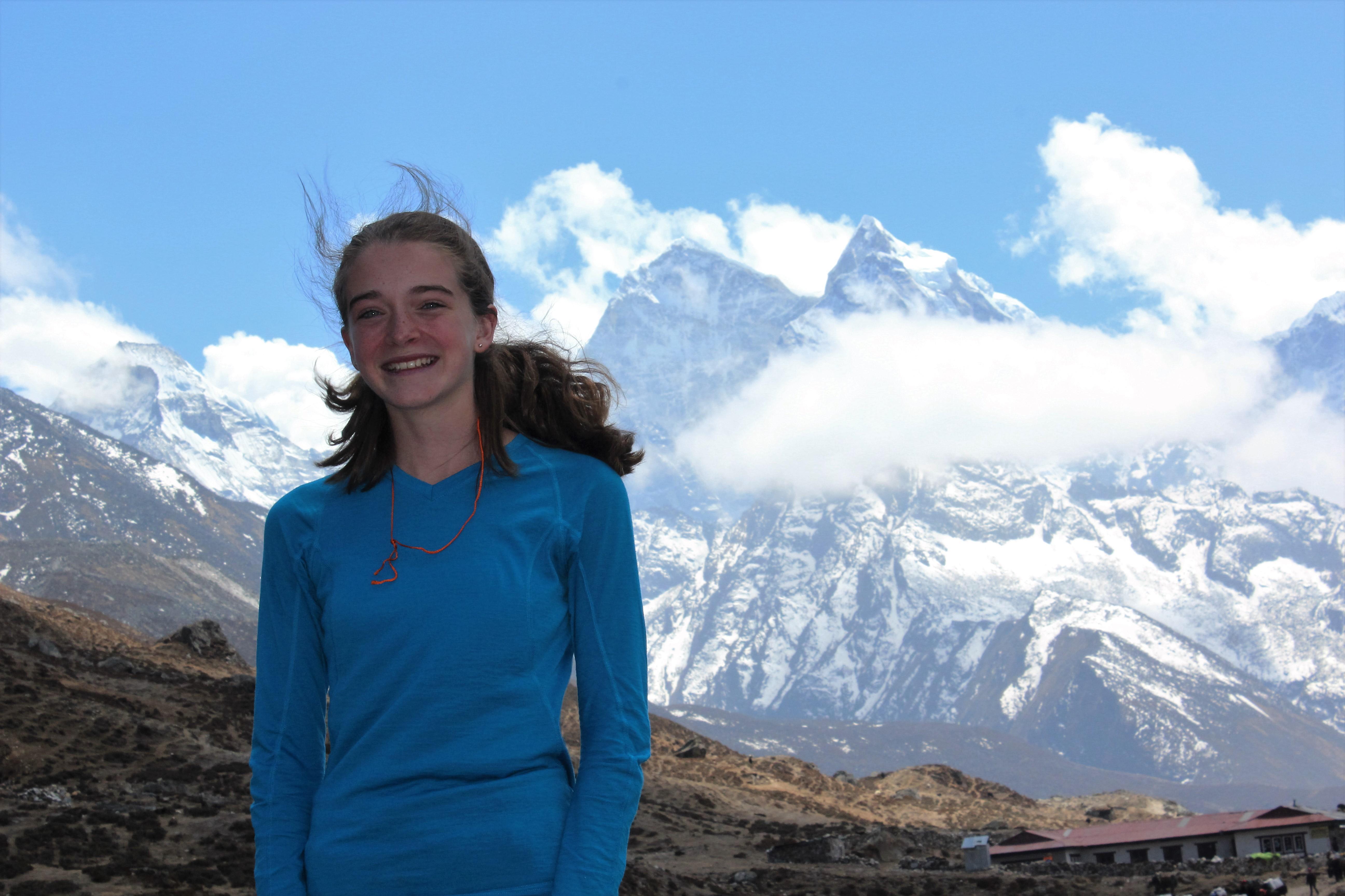 Jade á Leiðinni Upp í Grunnbúðir Everest